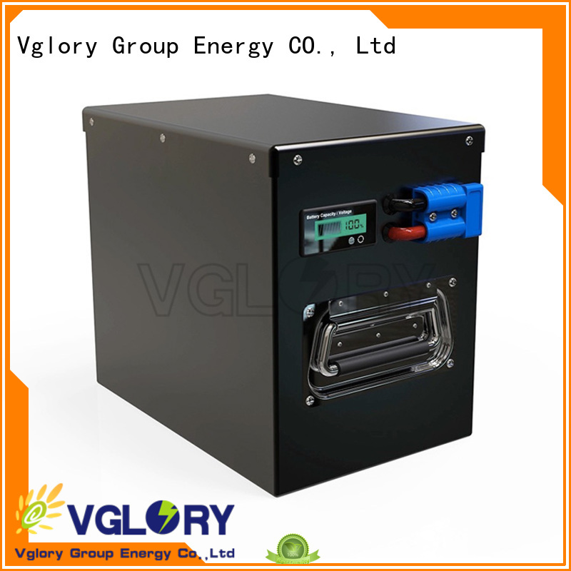Vglory sturdy deep cycle battery solar supplier for military medical