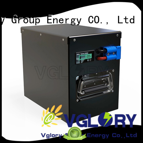 Vglory sturdy deep cycle battery solar factory price for military medical