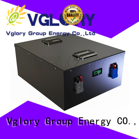 Vglory safety deep cycle battery solar factory price for solar storage