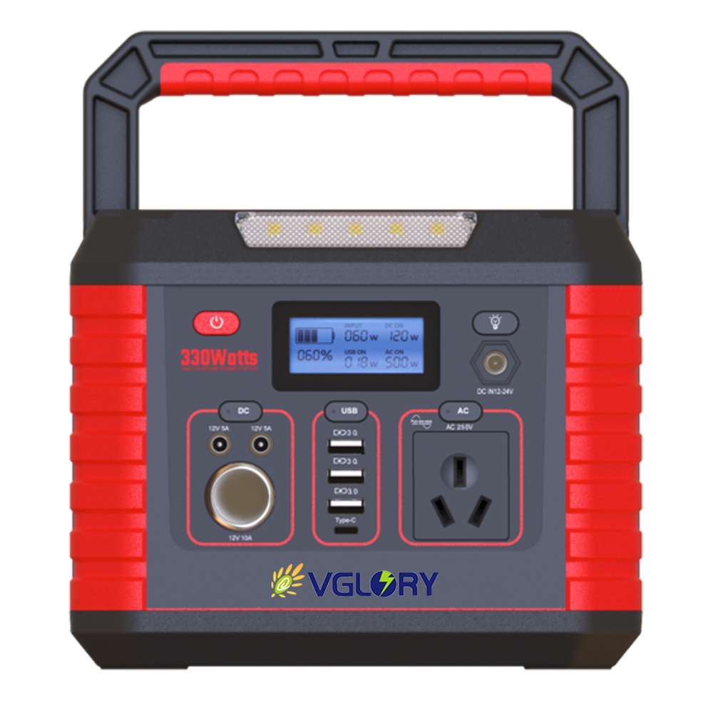 High performance emergency use ac 110v 220v 330w portable power station 12v