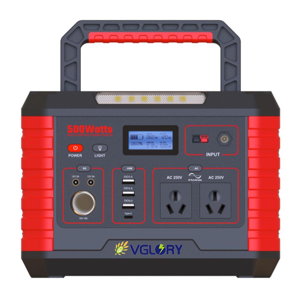 powerful emergency 500w  portable 220v off grid solar battery power generator lithium system