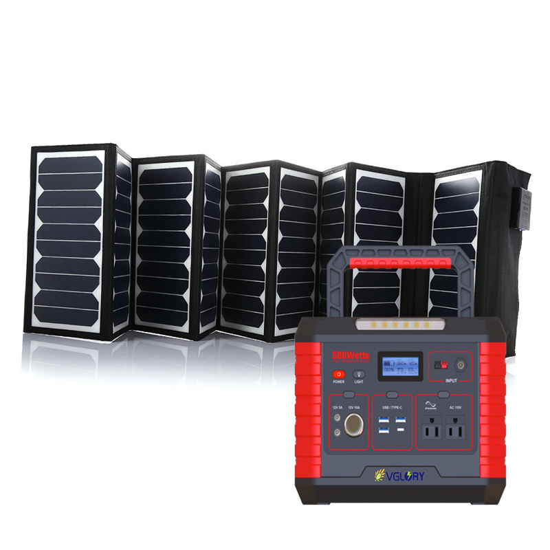 House 500wh 500w 1000w Power Solar Panels Home Use Portable Energy For Lfp Back Up Storage System