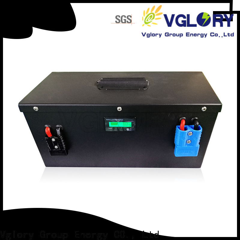 Vglory sturdy deep cycle battery solar supplier for telecom