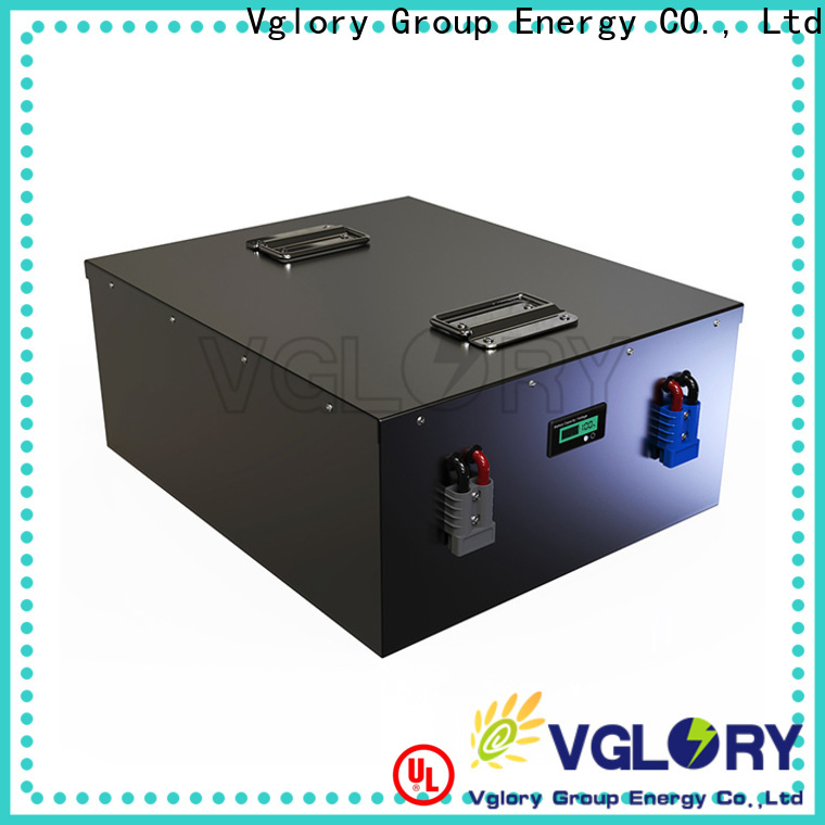 Vglory professional deep cycle battery solar factory price for solar storage